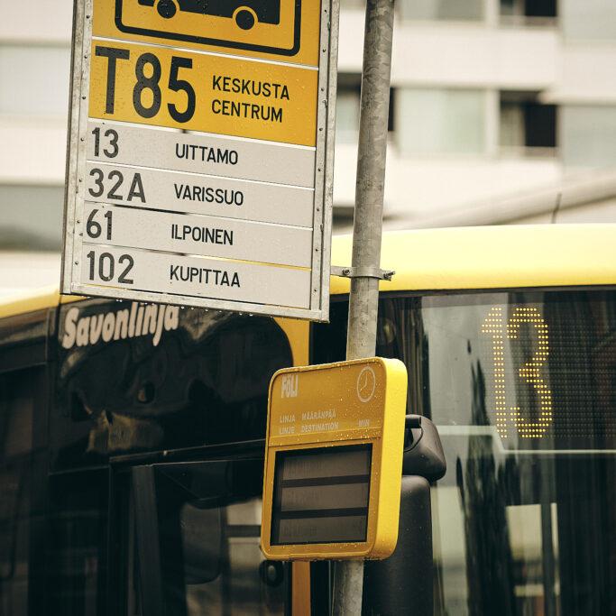 Bussipysäkin kyltti